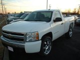 2008 Summit White Chevrolet Silverado 1500 LS Regular Cab #25063197