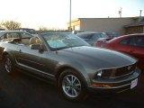 2005 Mineral Grey Metallic Ford Mustang V6 Premium Convertible #25063201