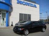 2007 Nighthawk Black Pearl Honda Civic EX Coupe #25062238