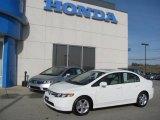 2007 Taffeta White Honda Civic EX Sedan #25062241