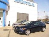 2007 Royal Blue Pearl Honda Civic LX Coupe #25062242