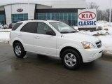 2009 Clear White Kia Sorento LX #25063267