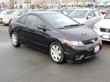2007 Nighthawk Black Pearl Honda Civic LX Coupe #25062222