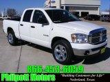 2008 Bright White Dodge Ram 1500 Lone Star Edition Quad Cab #25062760