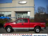 2010 Vermillion Red Ford F150 XLT SuperCab 4x4 #25062358
