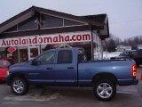 2004 Atlantic Blue Pearl Dodge Ram 1500 Laramie Quad Cab 4x4 #25062780