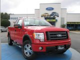 2010 Vermillion Red Ford F150 XLT SuperCab 4x4 #25062515