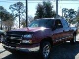 2006 Sport Red Metallic Chevrolet Silverado 1500 LS Crew Cab 4x4 #25062604