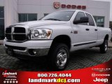 2007 Bright White Dodge Ram 3500 Lone Star Quad Cab 4x4 #25062660