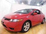 2007 Tango Red Pearl Honda Civic EX Coupe #25092235