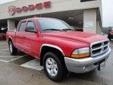 2004 Flame Red Dodge Dakota SLT Quad Cab #25063144
