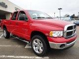 2005 Flame Red Dodge Ram 1500 SLT Quad Cab 4x4 #25063150