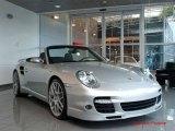 2008 Arctic Silver Metallic Porsche 911 Turbo Cabriolet #25145970