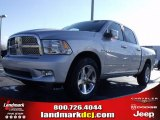 2010 Bright Silver Metallic Dodge Ram 1500 Sport Crew Cab #25146046
