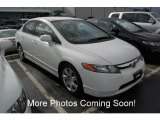 2007 Taffeta White Honda Civic LX Sedan #25092061