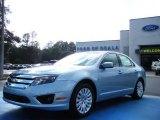 2010 Light Ice Blue Metallic Ford Fusion Hybrid #25092131