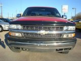 2002 Victory Red Chevrolet Silverado 1500 LS Extended Cab 4x4 #2517957