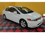 2007 Taffeta White Honda Civic EX Sedan #25146210