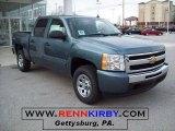 2010 Blue Granite Metallic Chevrolet Silverado 1500 LS Crew Cab 4x4 #25196241