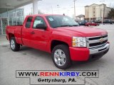 2010 Victory Red Chevrolet Silverado 1500 LT Extended Cab 4x4 #25196242