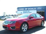 2010 Sangria Red Metallic Ford Fusion Sport #25195979