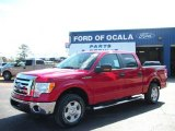 2010 Vermillion Red Ford F150 XLT SuperCrew #25195986