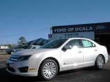 2010 White Platinum Tri-coat Metallic Ford Fusion Hybrid #25195993