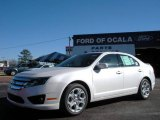 2010 White Platinum Tri-coat Metallic Ford Fusion SE #25196000