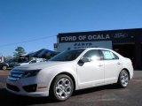 2010 White Platinum Tri-coat Metallic Ford Fusion SE #25196003