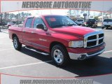 2002 Flame Red Dodge Ram 1500 SLT Quad Cab #25196400