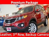 2011 Spicy Red Kia Sorento EX #25247564
