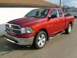 2010 Inferno Red Crystal Pearl Dodge Ram 1500 Big Horn Quad Cab 4x4 #25247610