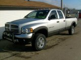 2004 Bright Silver Metallic Dodge Ram 3500 Laramie Quad Cab 4x4 #25247611