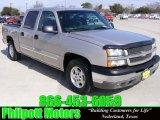 2004 Silver Birch Metallic Chevrolet Silverado 1500 LS Crew Cab #25247630