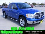 2008 Electric Blue Pearl Dodge Ram 1500 Lone Star Edition Quad Cab #25247631