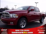 2010 Inferno Red Crystal Pearl Dodge Ram 1500 SLT Crew Cab #25299941