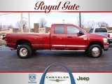 2008 Inferno Red Crystal Pearl Dodge Ram 3500 SLT Quad Cab 4x4 Dually #25299761