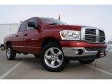 2007 Inferno Red Crystal Pearl Dodge Ram 1500 Big Horn Edition Quad Cab 4x4 #25300258