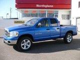 2007 Electric Blue Pearl Dodge Ram 1500 Big Horn Edition Quad Cab 4x4 #25352422