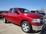 2010 Inferno Red Crystal Pearl Dodge Ram 1500 Big Horn Quad Cab 4x4 #25352727