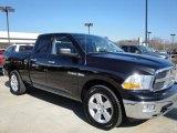 2010 Brilliant Black Crystal Pearl Dodge Ram 1500 Big Horn Quad Cab 4x4 #25352728