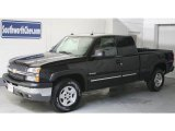 2005 Black Chevrolet Silverado 1500 Z71 Extended Cab 4x4 #25352736