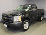 2009 Black Chevrolet Silverado 1500 Regular Cab 4x4 #25352628