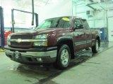 2005 Sport Red Metallic Chevrolet Silverado 1500 Z71 Extended Cab 4x4 #25352799