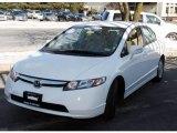 2007 Taffeta White Honda Civic Hybrid Sedan #25401104