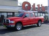 2003 Flame Red Dodge Ram 1500 SLT Quad Cab 4x4 #25401127