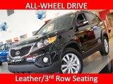 2011 Ebony Black Kia Sorento EX AWD #25401134