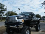 2004 Black Dodge Ram 1500 SLT Regular Cab 4x4 #25415309