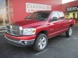 2008 Inferno Red Crystal Pearl Dodge Ram 1500 Big Horn Edition Quad Cab 4x4 #25415159