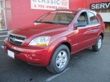 2009 Spicy Red Kia Sorento LX #25415162